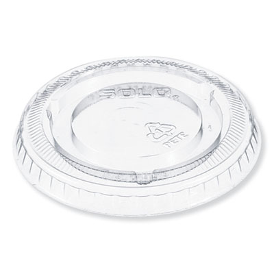 Plastic Cold Cup Lid for 5 oz Cup, No Hole, Clear, 2500/Carton