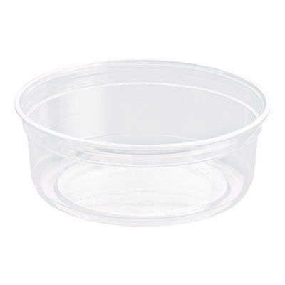 """Bare Eco-Forward RPET Deli Containers, 4.6"""" dia, Clear, 10/CT"""