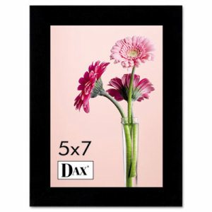 Solid Wood Photo/Picture Frame, Easel Back, 5 x 7, Black