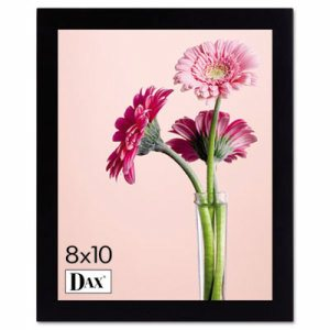 Solid Wood Photo/Picture Frame, Easel Back, 8 x 10, Black