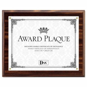 Award Plaque, Wood/Acrylic Frame, Up to 8 1/2 x 11, Walnut