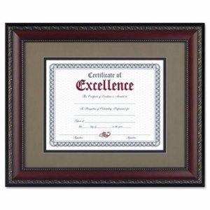 World Class Document Frame w/Cert, Walnut, 11 x 14, 8 1/2 x 11