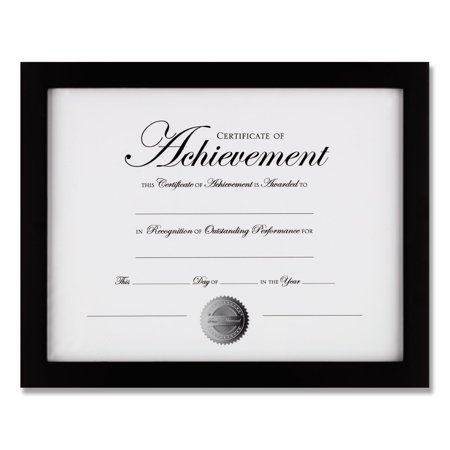 Wood Gallery Frame with Two-Way Easel, 8.5 x 11, Black