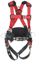 Protecta+ Medium/Large PRO+ Harness With Back And Side D Rings, Hip Pad And Belt And Tongue Buckle Legs