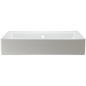 22 Rectangle Ceramic Above Counter Lavatory White