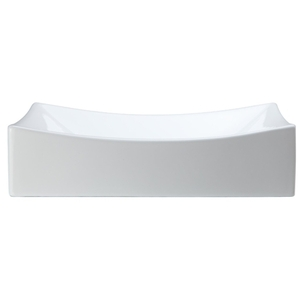 20 Rectangle Ceramic Above Counter Lavatory White