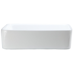 18 Rectangle Ceramic Bove Counter Lavatory White