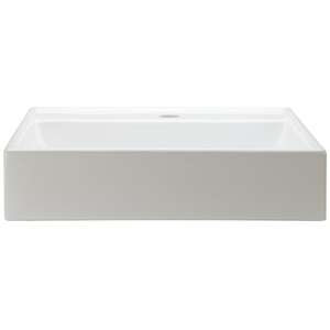 17 Square Ceramic Above Counter Lavatory White