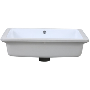 19 Rectangle Ceramic Undercounter Lavatory White