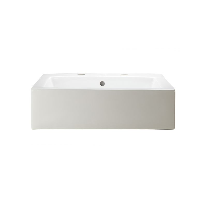 22.5 One Hole Rectangle Vitreous China Above Counter Lavatory White