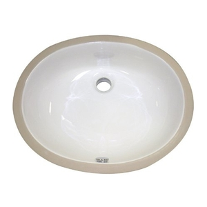 17 X 14 Ceramic White Vitreous China Undercounter Lavatory With Overflow