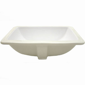 21.63X 15.75 One Hole Rectangle Vitreous China Undercounter Lavatory Biscuit