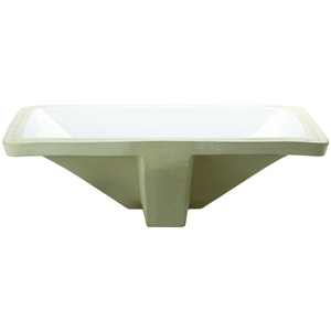 21 Rectangle Ceramic Undercounter Lavatory White