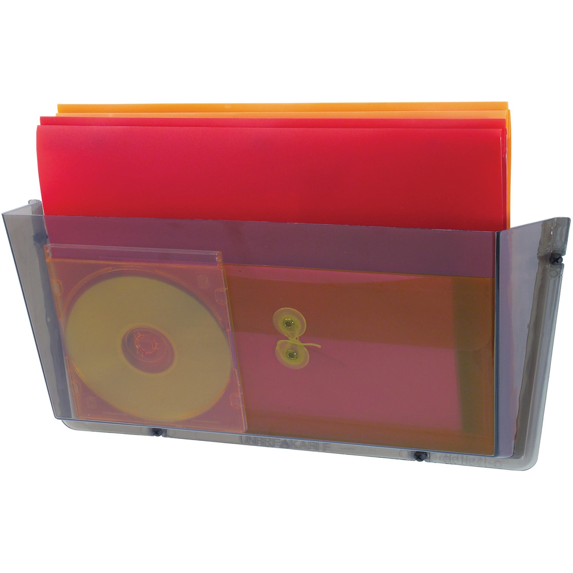 Unbreakable Docupocket Single Pocket Wall File, Legal, Smoke