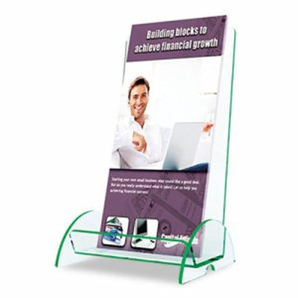 Euro-Style DocuHolder, 4 1/2w x 4 1/2d x 7 7/8h, Clear