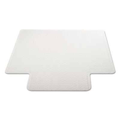 DuraMat Moderate Use Chair Mat for Low Pile Carpet, Beveled, 46x60 w/Lip, Clear
