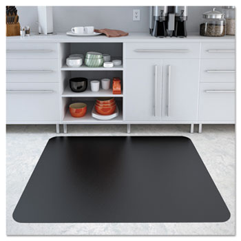 EconoMat Anytime Use Chair Mat for Hard Floor, 45 x 53, Black