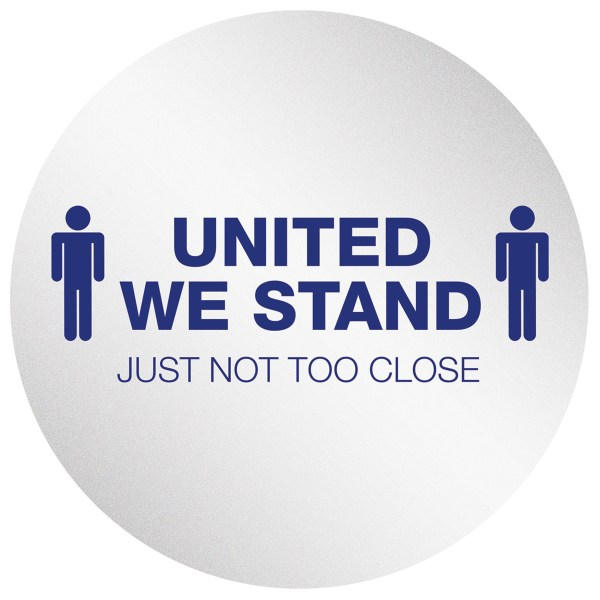 """Personal Spacing Discs, United We Stand, 20"""" dia, White/Blue, 6/Pack"""