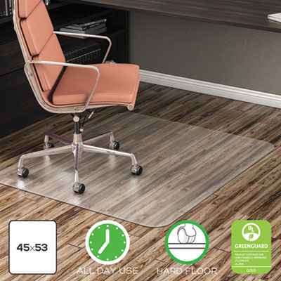 EconoMat Anytime Use Chair Mat for Hard Floor, 45 x 53, Clear