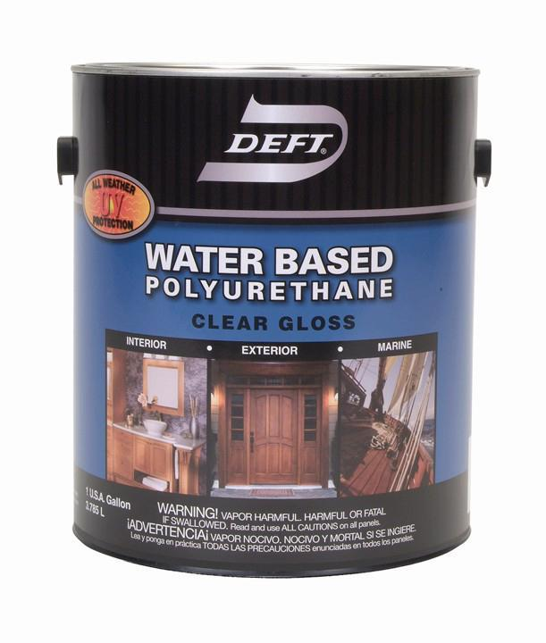 1 Gallon Water-Based Polyurethane Interior Exterior, Gloss