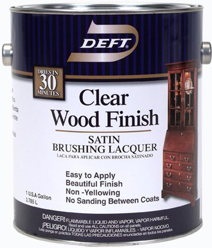 1 Gallon Satin Clear Wood Finish