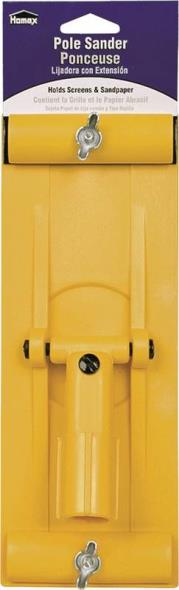 Homax 11 Heavy Duty Drywall Pole Sander, 11 X 3-1/4 in, Plastic, Yellow