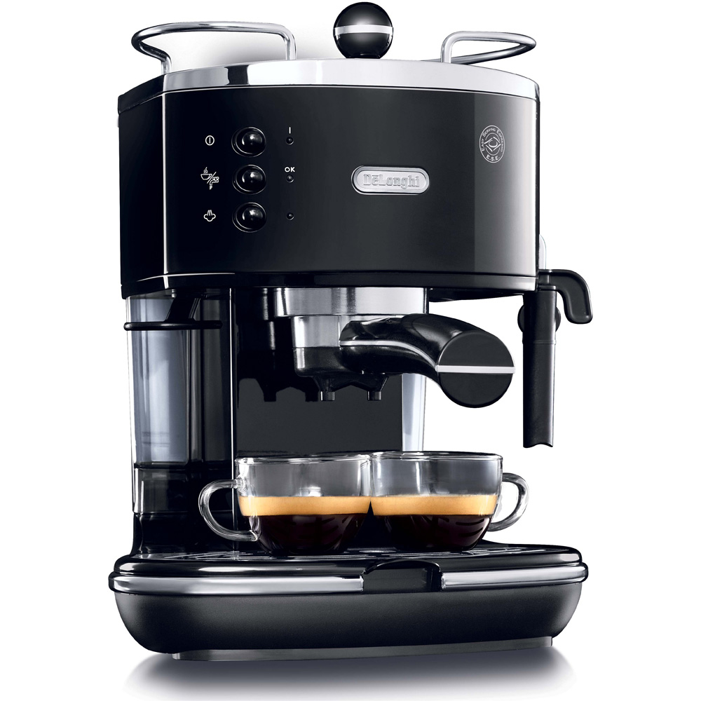 Piano Black & Stainless Steel Pump Espresso Maker