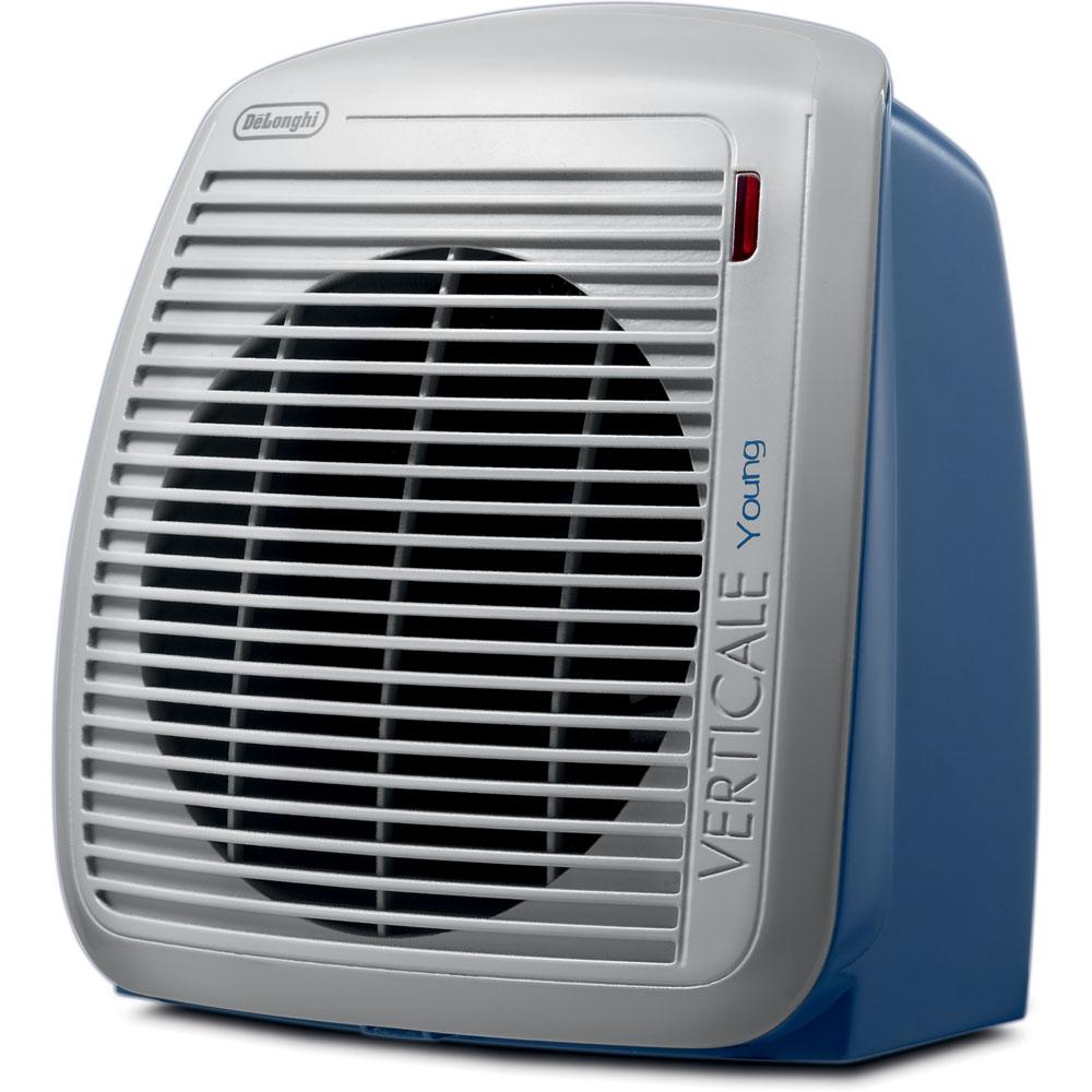 DeLONGHI 1500-Watt Fan Heater - Blue with Gray Face Plate
