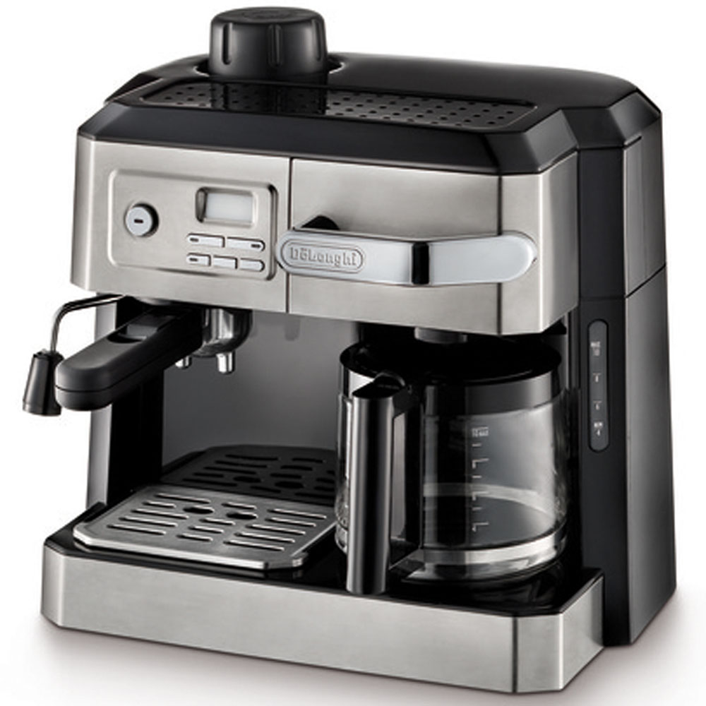 Combination Espresso and Drip Coffee Combination Machine with Programable Timer