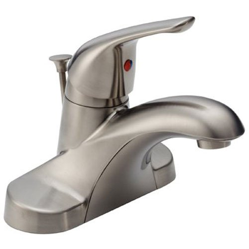 Classic Single Handle Lavatory Faucet with Metal Pop-Up, Stainless