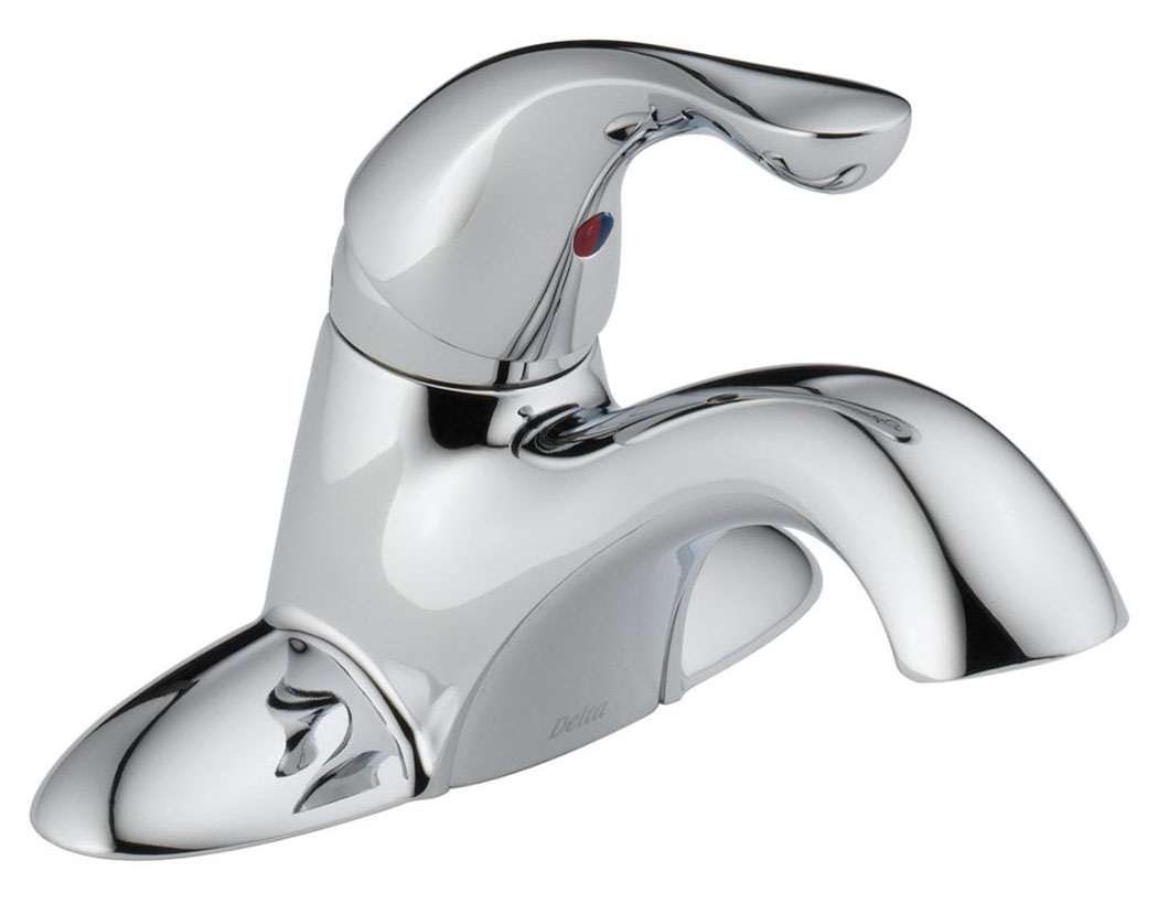 Classic Single Handle Centerset Lavatory Faucet with Less Pop-Up, Chrome