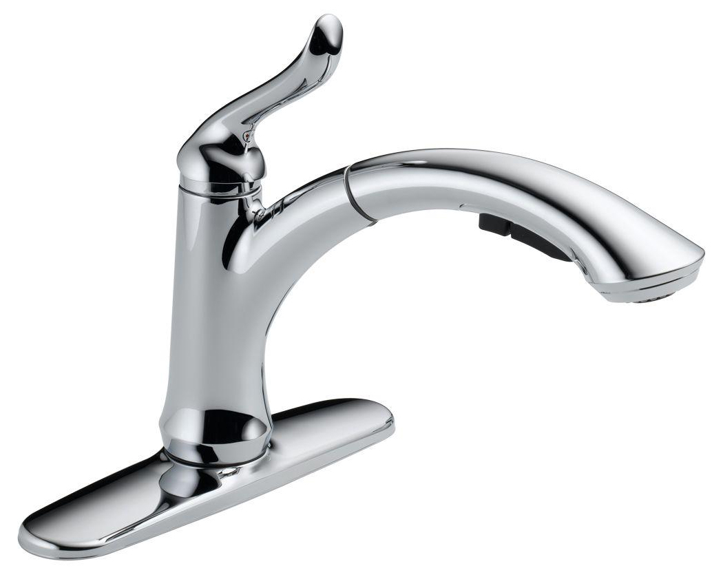 Linden™ Single Handle Water Efficient Pull-Out Kitchen Faucet, Chrome