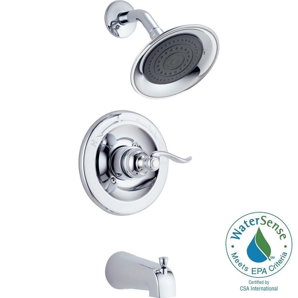 California Energy Commission Registered 2 Gallons Per Minute Tub and Shower Trim Monitor Polished Chrome