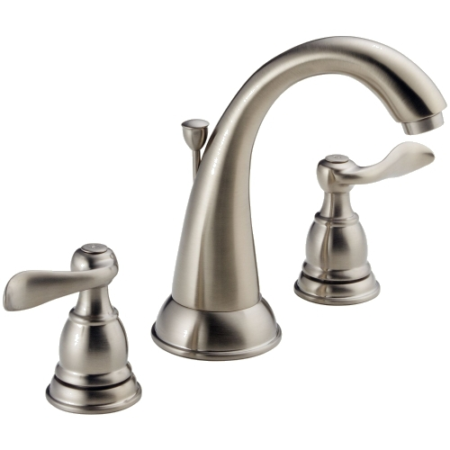 California Energy Commission Registered Lead Law Compliant 1.5 Gallons Per Minute 2 Handle Lavatory Faucet Stainless Steel