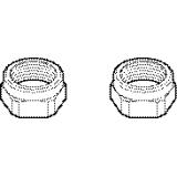 Bonnet Nuts Polished Chrome