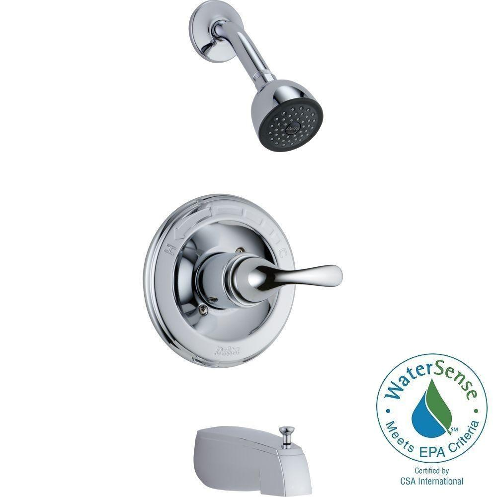 DELTA MONITOR PRESSURE BALANCE TUB AND SHOWER TRIM SET CHROME