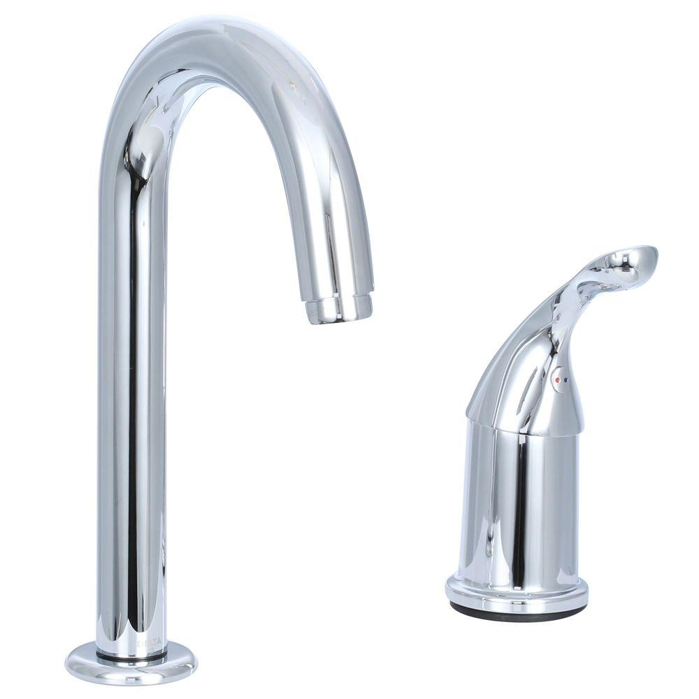 Delta Bar Faucet Hi-Arc Chrome Low Flow