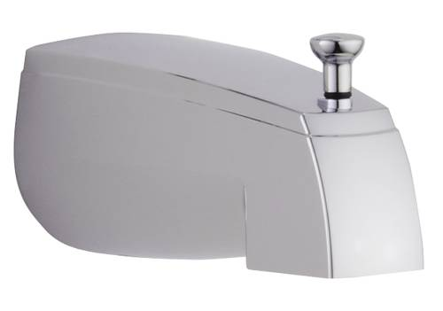 DELTA� BATHTUB SPOUT WITH TOP DIVERTER, CHROME, 5 IN., 1/2-INCH CWT OR IPS