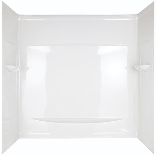 "Delta Faucet 29""x29.5"" Interlocking Seam Bathtub Wall, White"