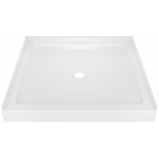 DELTA FAUCET CLASSIC 400 SHOWER BASE ONLY WITH CENTER DRAIN, 36 IN. X 36 IN, WHITE