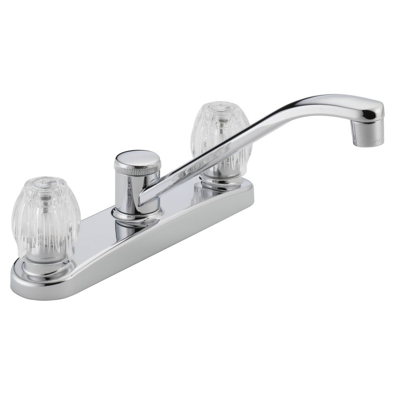 Peerless P220LF Classic Two Handle Kitchen Faucet, Chrome