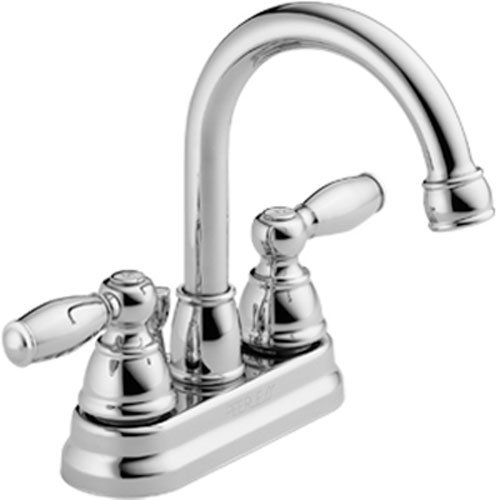 1.20 GPM Two Handle 3-Hole Lavatory Faucet with High Arc Rotating Spout, Chrome