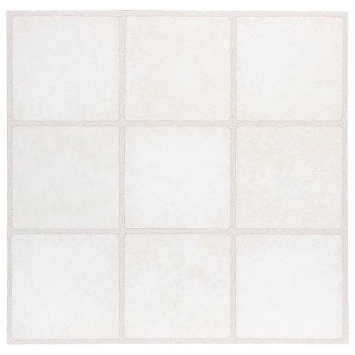Winton Self-Adhesive Vinyl Floor Tile, 12X12 In., 1.1 mm, White