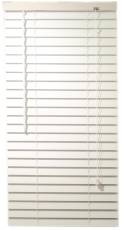 DESIGNER'S TOUCH� 2-INCH FAUX WOOD MINI BLINDS WITH CONTEMPORARY VALANCE, WHITE, 39X64 IN.