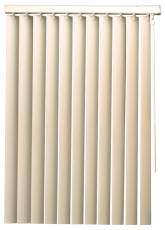 DESIGNER'S TOUCH� 3.5-INCH PVC VERTICAL BLINDS, ALABASTER, 84X84 IN.