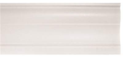 DESIGNER'S TOUCH CONTEMPORARY VALANCE, 2 IN. FAUX WOOD, 72 IN. L, WHITE