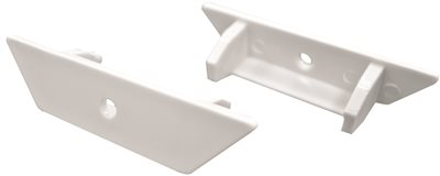 BOTTOM RAIL END CAP FOR 2 IN. FAUX WOOD BLIND, PVC, WHITE