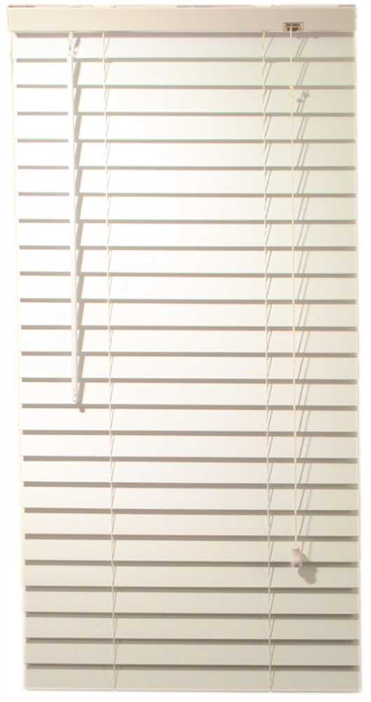 "Designer's Touch™ 2"" Faux Wood Mini Blind, White, 23"" x 48"""