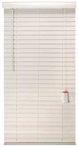 DESIGNER'S TOUCH� 2-INCH FAUX WOOD MINI BLINDS, WHITE, 29X60 IN.