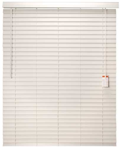 "Designer's Touch™ 2"" Faux Wood Mini Blind, White, 52"" x 60"""